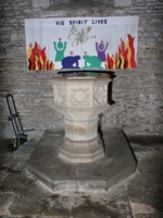 Interior 8 (Font) of Old Brampton Church