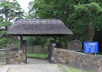 Upper lychgate to Old Brampton Church
